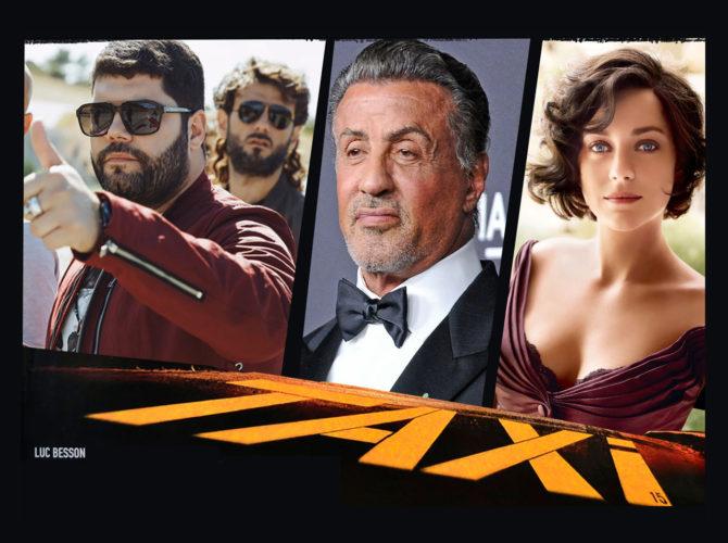 Salvatore Esposito in Taxxi 5 di Luc Besson con Sylvester Stallone e Marion Cotillard.